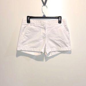 """J. Crew Classic Chino 4"""" White Shorts"""